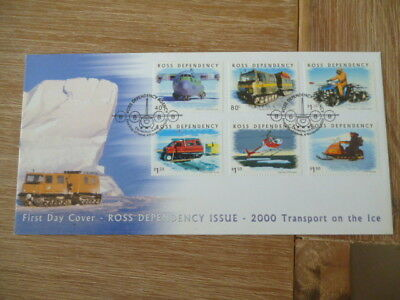 New Zealand 2000  fdc Ross Dependency Transport on Ice  full set of stamps