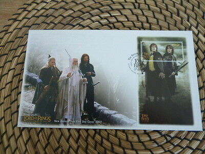 New Zealand fdc 2003 Lord of the Rings Return of the king mini sheet