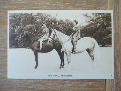 vintage unused post card H.R,H.Princesses Riding on Horses
