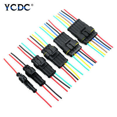 Car Waterproof Electrical Connector Plug 18 AWG 1/2/3/4/5/6 Pins 2.4mm Terminal