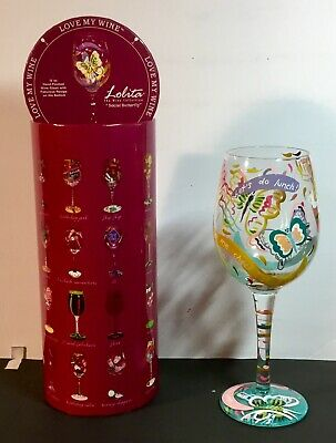 Lolita Love My Wine SOCIAL BUTTERFLY 15-OZ Wine EUC w/Box