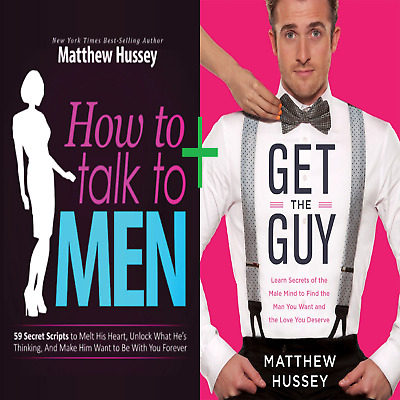 👌How To Talk To MEN by Matthew Hussey + GET THE GUY {2 Books} {PDF EPUB KINDLE}
