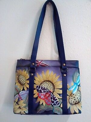 Anuschka Hand Painted Leather Shopper, Tuscan Paradise