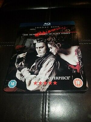 Johnny Depp SWEENEY TODD 2007 Musical Classic Rare UK Blu-ray Steelbook