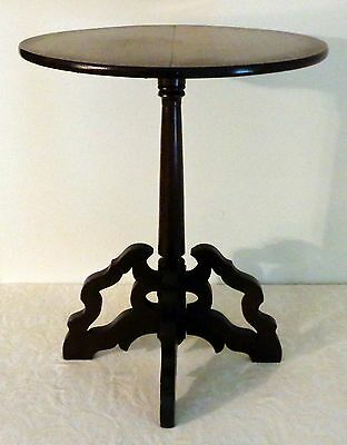 VTG EARLY 1900s CHIPPENDALE STYLE ROUND OCCASIONAL ACCENT SIDE TABLE UNIQUE!