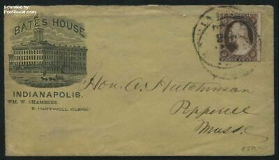 United States of America 1857 letter with #44 type II suss!857b