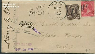 United States of America 1897 Envelope and letter from The United States suss!89