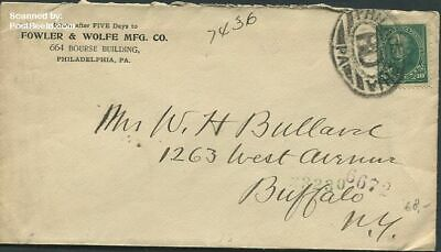 United States of America 1898 Envelope to Buffelo, New York suss!898a