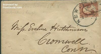 United States of America 1858 Little envelope to Broadwell suss!858
