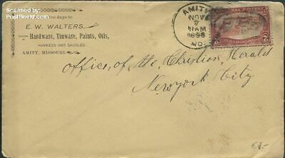 United States of America 1898 Envelope to New York City suss!898b
