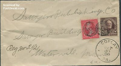 United States of America 1897 Envelope to Waterville in Maine suss!897f