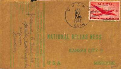 United States of America 1947 Airmail from Guam to Missouri, see Guam 1947 postm