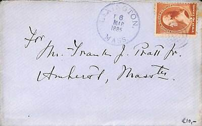 United States of America 1885 Cover from Lexington, Massachusetts to Amherst, Ma