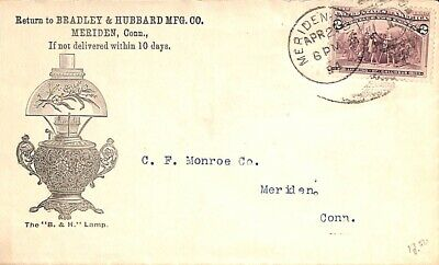 United States of America 1894 Advertising cover Bradley & Hubbard suss!894a