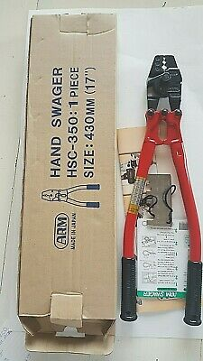 HSC-350 ARM hand swager for use with copper and aluminum sleeves NEW IN BOX