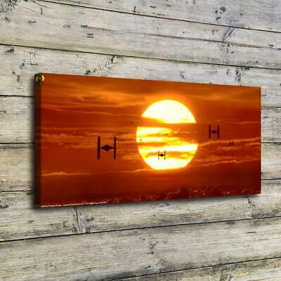 "12""x26""Sunset Star Wars Paintings HD Print on Canvas Home Decor Room Wall Art"