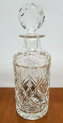 Beautiful Vintage Cut Crystal Glass Decanter. Heavy. Vgc