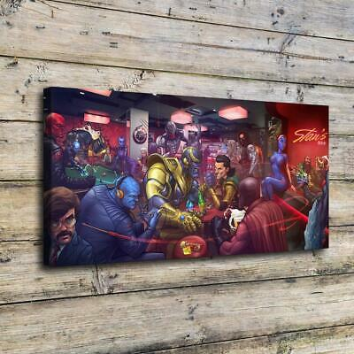 """12""""x24""""Dogs Playing Poker HD Canvas print Painting Home Decor Picture Wall art"""