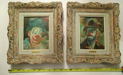 VINTAGE ORIGINAL CLOWN Watercolor Painting - Signed - $35 00 | PicClick