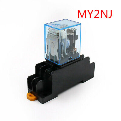 Relay Coil General Micro Mini Electromagnetic Relay Switch with Socket Base LED