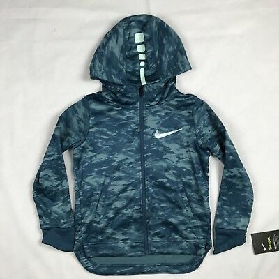 Nike Big Kids/' DRI-FIT THERMA ELITE Hoodie Jacket Light Blue 803769-435 a