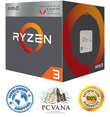 AMD RYZEN 3 2200G Quad-Core 3.5 GHz (3.7 GHz Turbo) Socket AM4 65W YD2200C5FBBOX