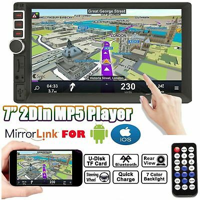 """Mirrorlink For Android GPS Double 2Din 7"""" Radio Stereo Bluetooth Touch Universal"""