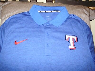 78bf225001e MLB TEXAS RANGERS NIKE Royal Blue Polo Golf Shirt Men's Large