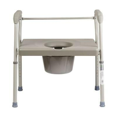 Duro-Med Bedside Commode Chair, Heavy-Duty Steel Commode Toilet Chair, Toilet Sa