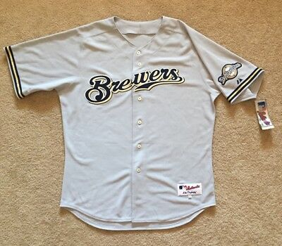 5170cd12089 NEW Majestic Athletic Authentic Collection Milwaukee Brewers MLB Jersey  Size 48