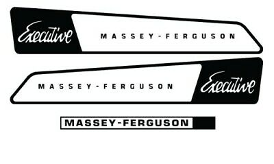 Massey-Ferguson Executive MF Tractor Mower Hood Decal Set Sticker Kit L@@K