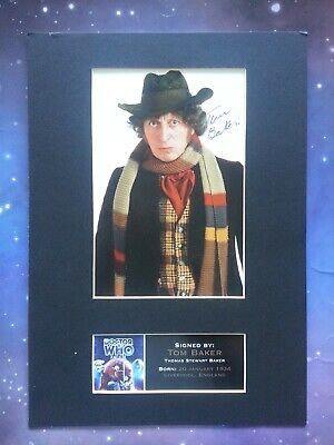 4Th Doctor Who Tom Baker Autograph Signature Mounted Signed Photo Reproduction
