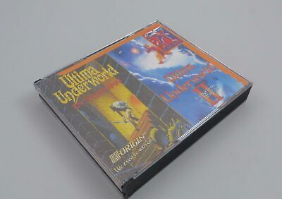 Ultima Underworld I & II 1 & 2 PC Stygian Abyss Labyrinth of Worlds CD ROM