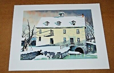 ROBERT ADDISON SIGNED A/P EASTERN MILL 1981 Chicago LISTED ARTIST Fine Art $$