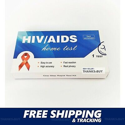 HIV RAPID HOME TEST KIT 1/2 AIDS Antibody Quick Self Check 99.9% Accurate w/ ISO