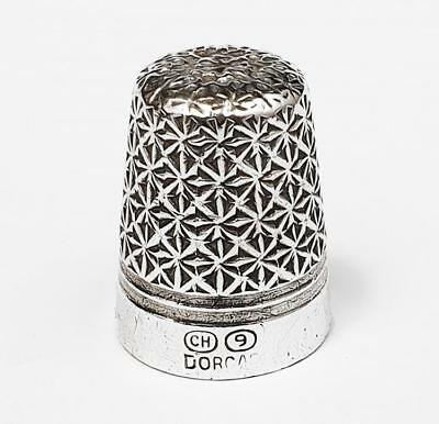 Antique CHARLES HORNER DORCAS SILVER ON STEEL CORE PATENT THIMBLE c1900