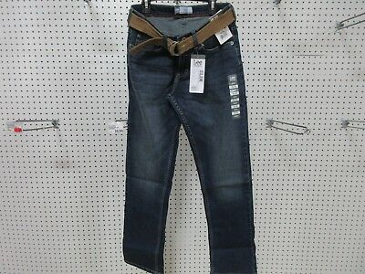 Lee Dungarees Boys Kids Youth Pants Jeans Clothes Slim 8 R Belt Straight Leg