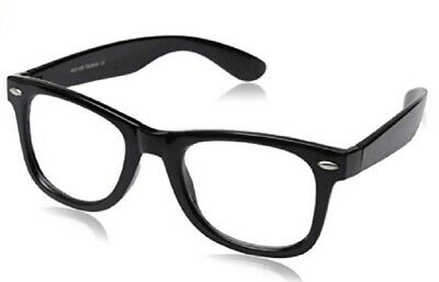 a3b2754d7c99 Vintage Inspired Eyewear Original Geek Nerd Clear Lens Horn Rimmed Glasses  Black