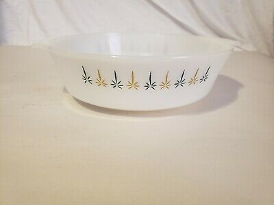 Vintage ANCHOR HOCKING FIRE KING #438 Candle Glow 2 QT. Casserole Baking Dish