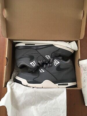 official photos c3a52 bf221 NIKE AIR FLIGHT 89 1989 Cool Grey Anthracite White 306252 019 Size 13 2011