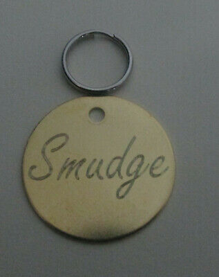 Engraved Pet Tags Cat Dog ID Disk Brass Nickel Deep Quality Engraving Free Post