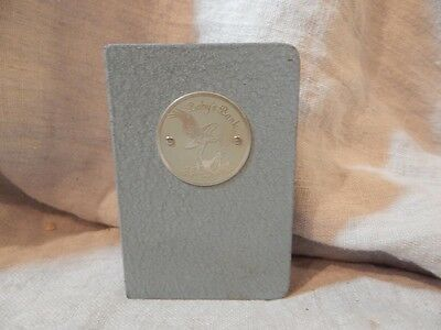 """Vintage Automatic Recording Safe Co. Blue """"Baby's Book"""" Bank 5"""" Boy"""