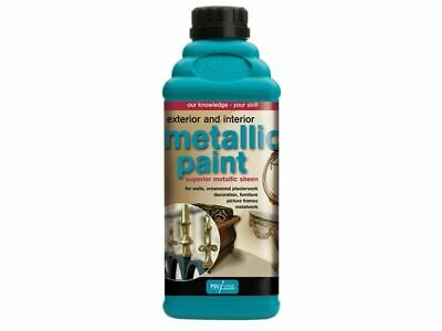 Polyvine - Exterior e Interior Metallic Paint Silver 500ml