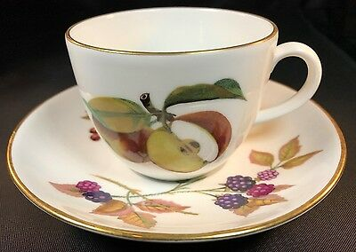 Royal Worcester Evesham Gold Cup & Saucer - Freezer to Oven/Oven to Table