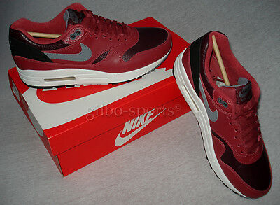 NIKE AIR MAX 1 LTR Leather Red Bordeaux Größe 40 Rot 654466