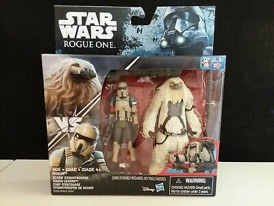Star Wars Rogue One Moroff & Scarif Stormtrooper 3.75in 2 Pack New Sealed