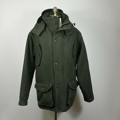 0261f14ba2064 CABELA'S Legacy WOOL Dry Plus Hooded Insulated Hunting Field JACKET L Tall  Green