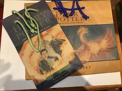 Harry Potter Launch book bags,Half Blood Prince,Order of the Phoenix.Unused.