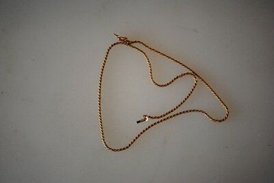"Vintage 16"" 14K Italy Rope Yellow Gold Chain 4.2 grams Estate Find"