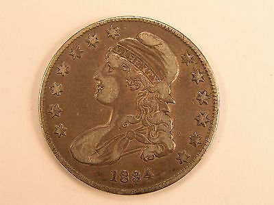 1834 50C Capped Bust Half Dollar